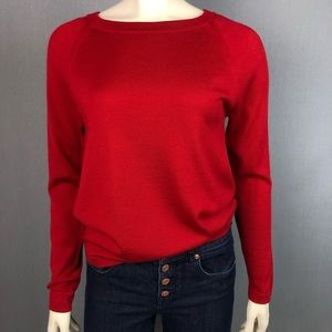 Banana Republic 100% merino wool red sweater Med